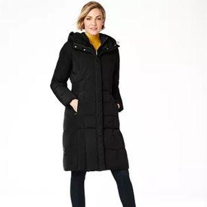 COLE HAAN Box-Quilt Down Puffer Coat Black M